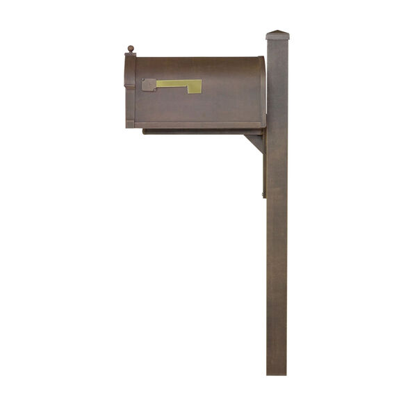 Berkshire Curbside Copper Mailbox and Wellington Direct Burial Mailbox, image 3