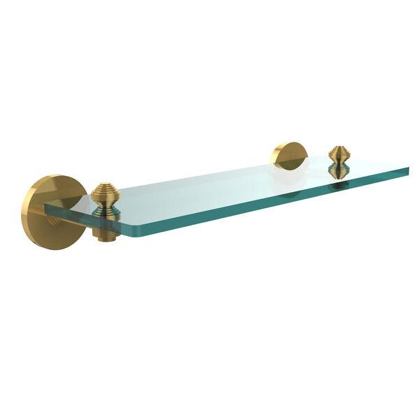 Polished Brass 16-Inch Single Shelf, image 1