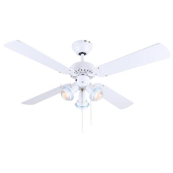 Catalyst VI White 42-Inch Three-Light Ceiling Fan, image 1