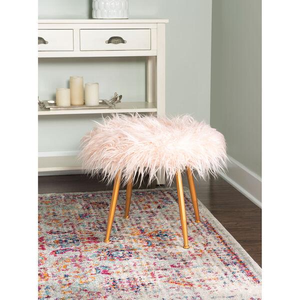 Aiden Pink Fur Stool, image 4