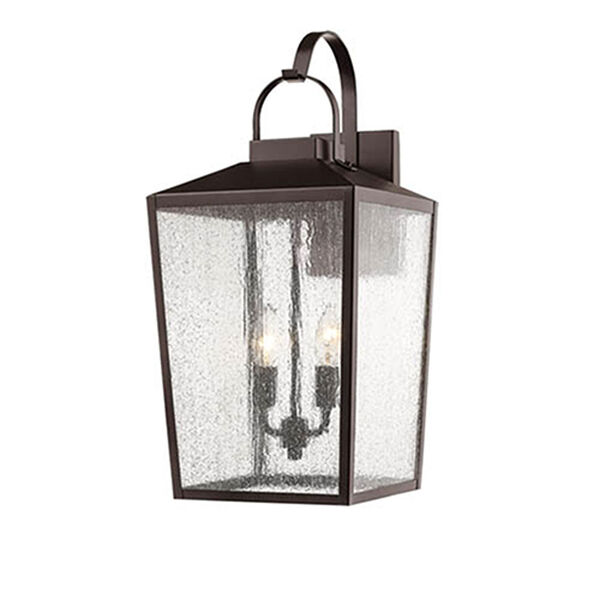 Elle Bronze 10-Inch Two-Light Outdoor Wall Sconce, image 1