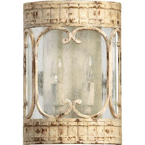 Bloomfield White Eight-Inch Two-Light Wall Sconce, image 1