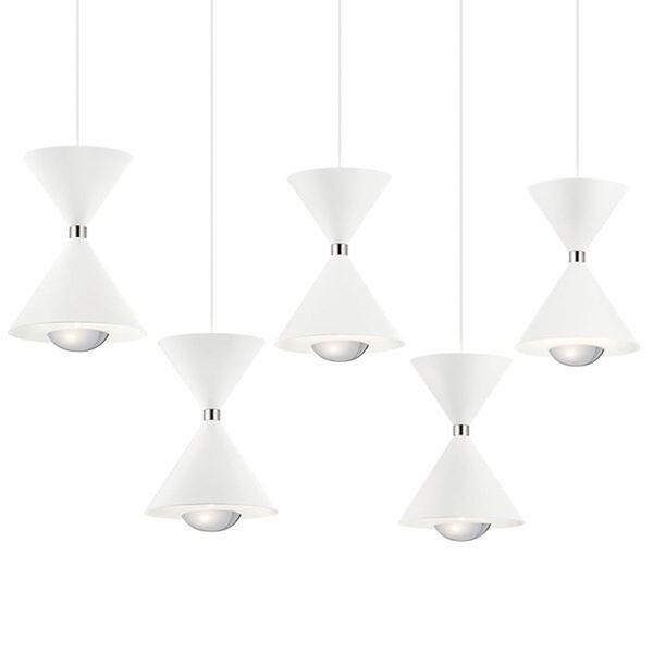Kordan Matte White LED Mini Chandelier, image 2