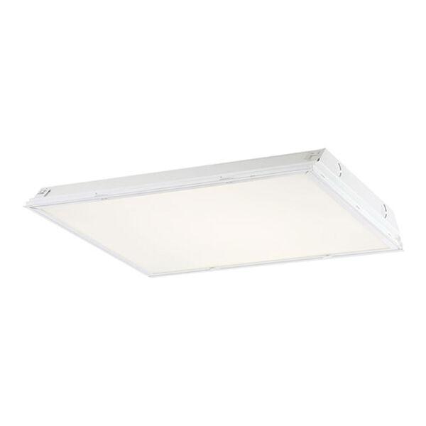 White 24-Inch Prismatic Lens LED Troffer Light, image 1