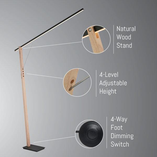 Kylar Black LED Floor Lamp, image 4