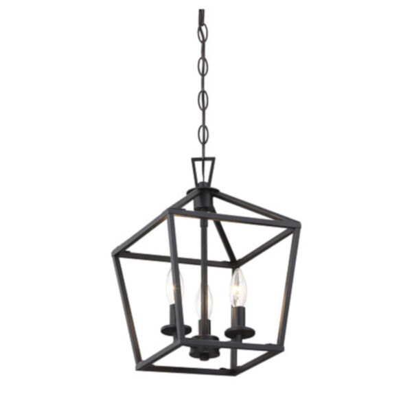 Anna Matte Black 10-Inch Three-Light Pendant, image 4