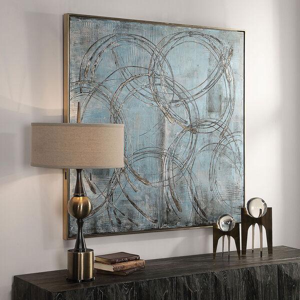 Interlock Blue Modern Art, image 1