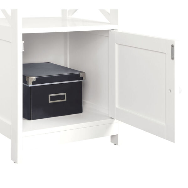 Oxford Driftwood and White End Table with Cabinet, image 4