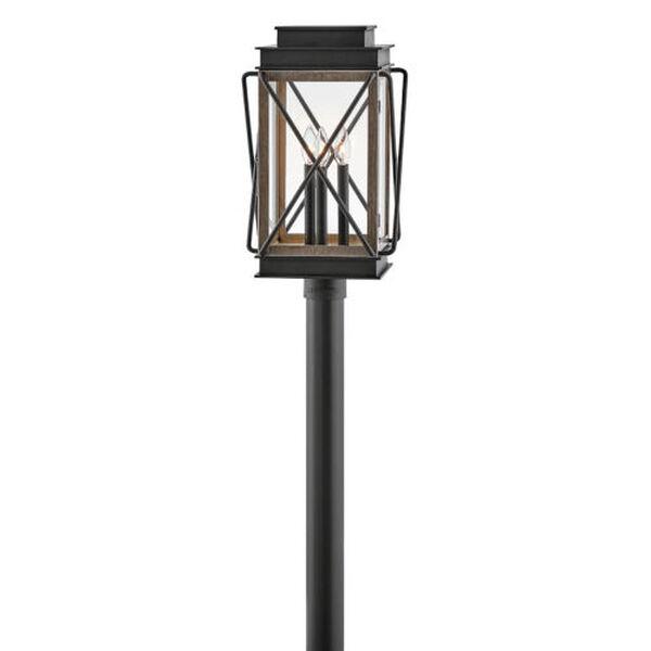 Montecito Black Three-Light Outdoor Post Mount, image 1