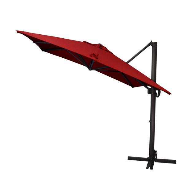 Cali Bronze with Jockey Red Nine-Feet Sunbrella Patio Umbrella, image 2