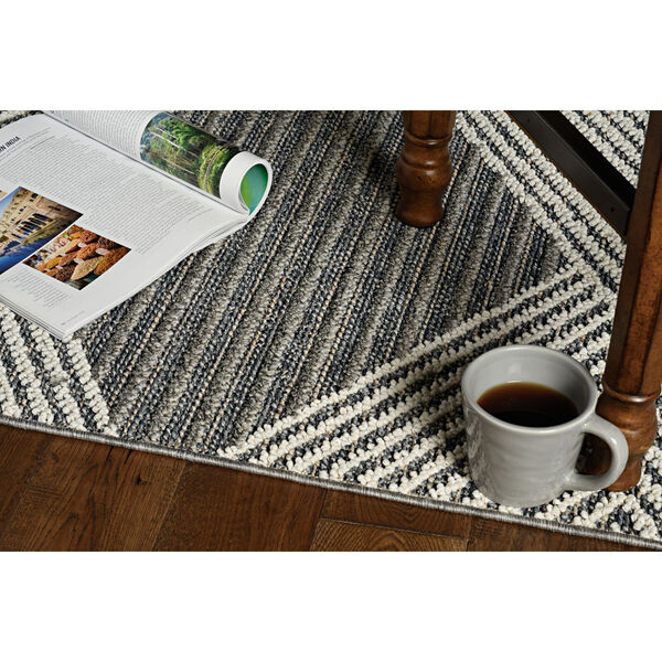 Terrace Gray and Ivory Rectangular: 4 Ft. x 5 Ft. 9 In. Rug, image 3