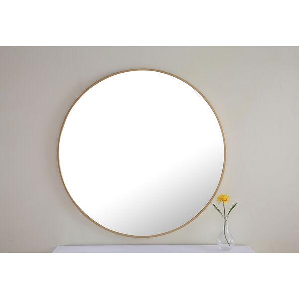 Eternity Brass Round 32-Inch Mirror, image 3