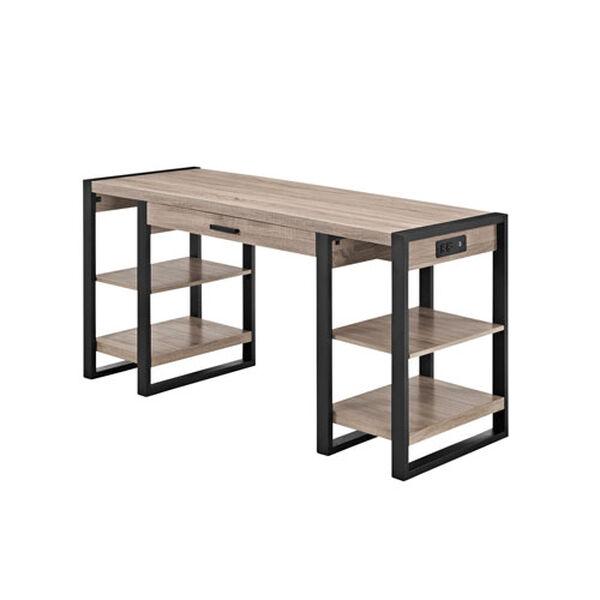 Urban Blend Grey 60-Inch Storage Desk, image 1