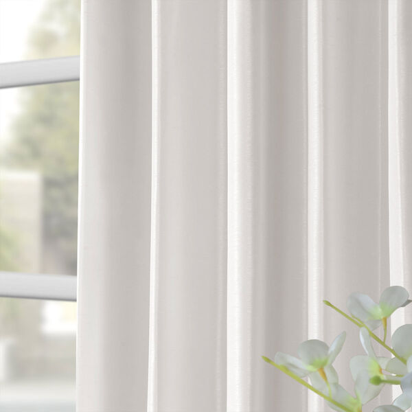 Ice Vintage Textured Faux Dupioni Silk Single Panel Curtain, 50 X 120, image 8