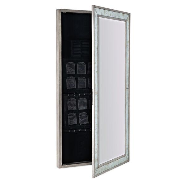 Melange McAlister Silver Floor Mirror with Jewelry Storage, image 3