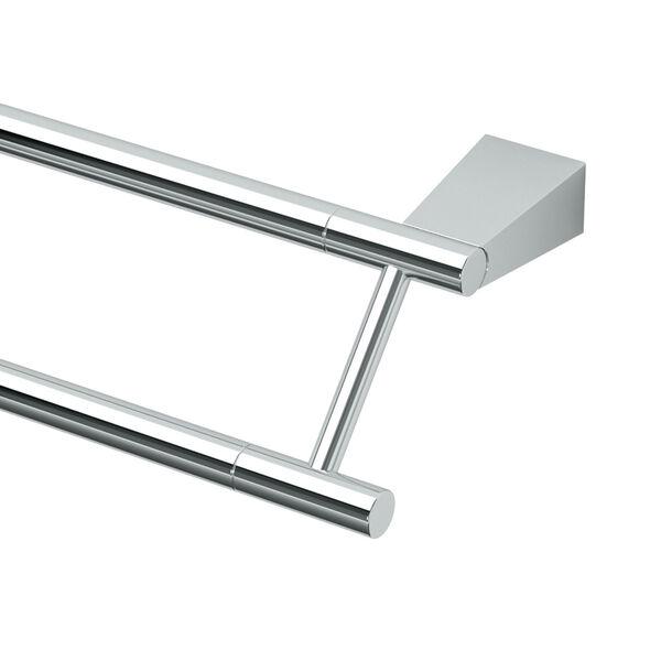 Bleu Chrome 24 Inch Double Towel Bar, image 2