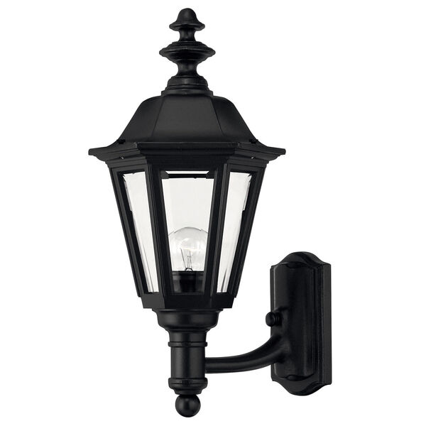 Manor House Black 19-Inch Outdoor Wall Mount, image 1