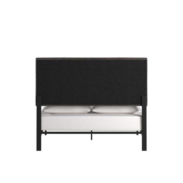 Lydia Gray and Black Full Velvet Platform Bed, image 4