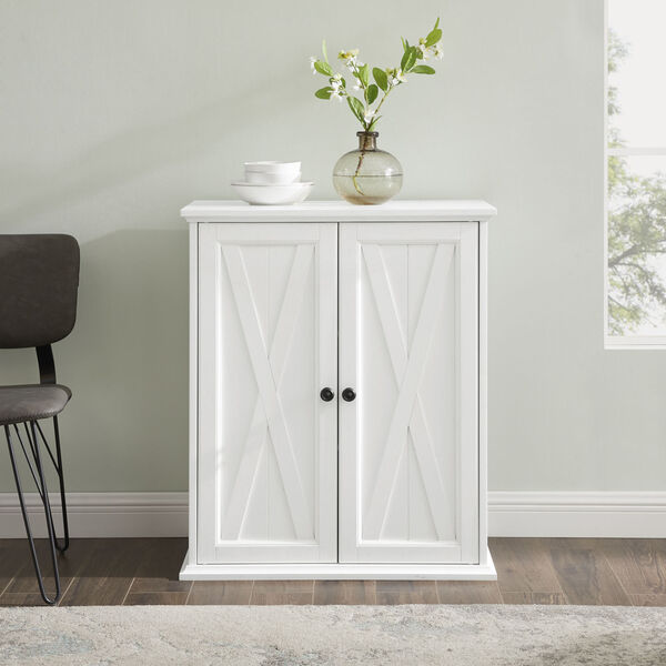 Clifton Distressed White Stackable Kitchen Pantry, image 1