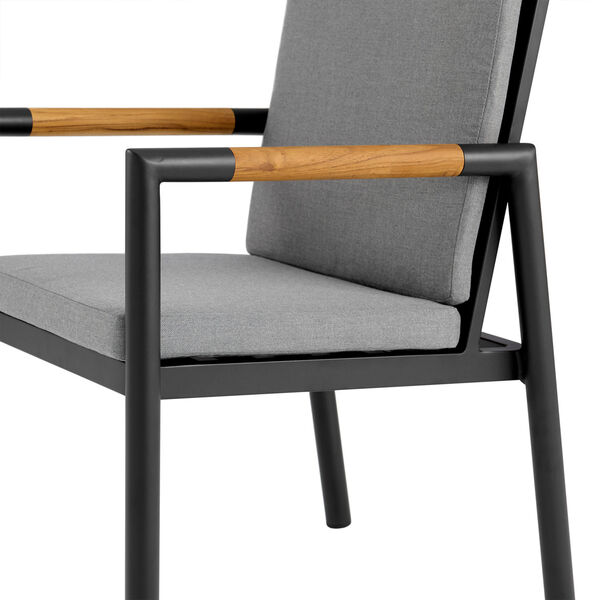 Crown Black Outdoor Dining Chair, Set of Two, image 6
