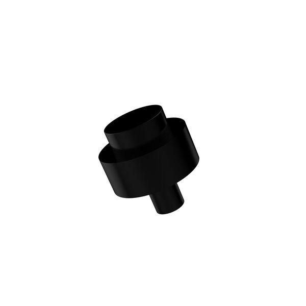Cabinet Hardware Matte Black 1-1/2 Inch Cabinet Knob, image 1