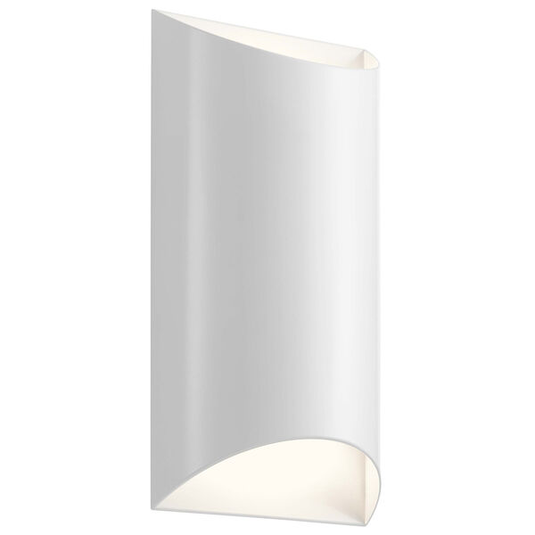 Wesley White Two-Light LED Outdoor Wall Sconce, image 1