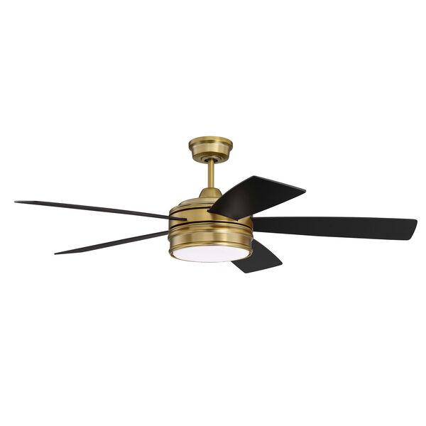 Braxton Satin Brass Led 52-Inch Ceiling Fan, image 1