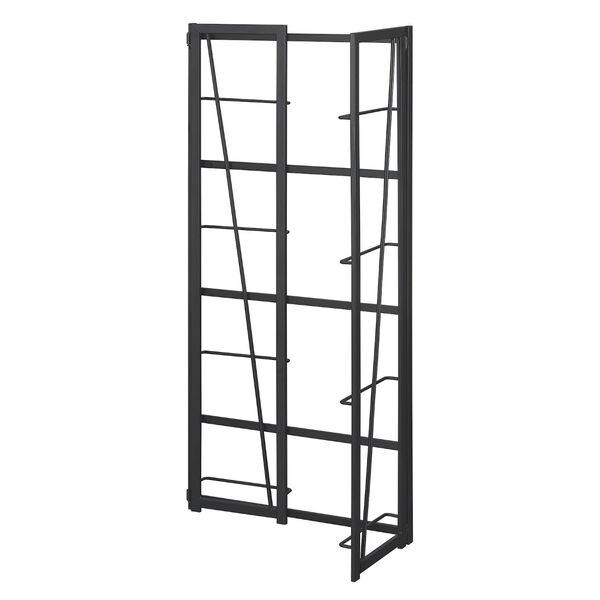 Xtra Espresso and Black Folding Four Tier Bookshelf, image 6