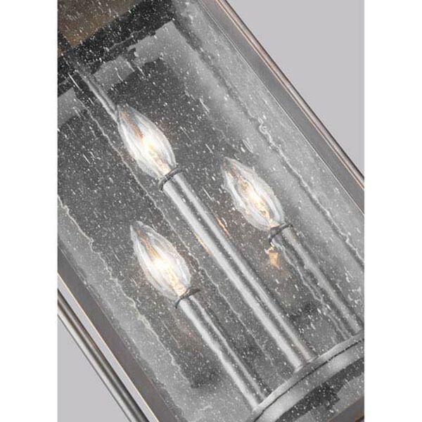 Buchanan Bronze 11-Inch Three-Light Outdoor Wall Lantern, image 2