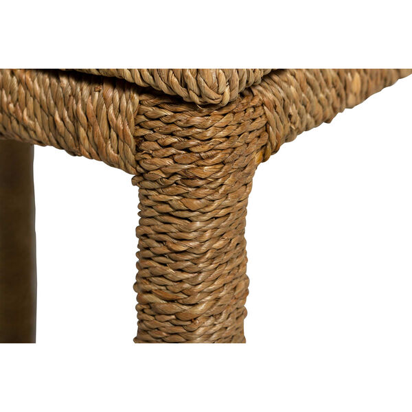 Wells Natural Seagrass End Table, image 4