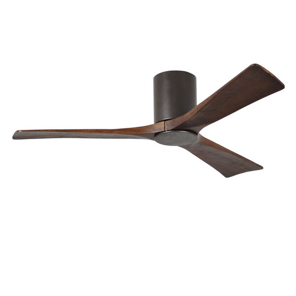 Irene Textured Bronze 52-Inch Ceiling Fan with Three Walnut Tone Blades, image 4