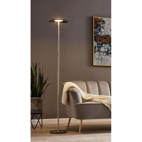 Torin Brushed Nickel LED Floor Lamp, image 3