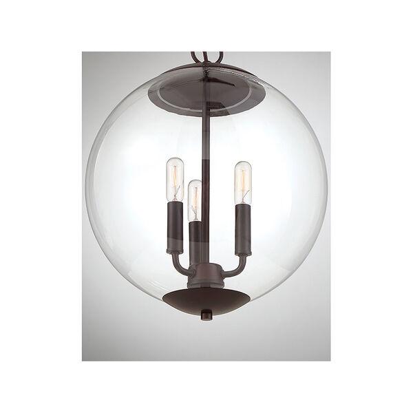 Whittier Oil Rubbed Bronze Three-Light Globe Pendant, image 6