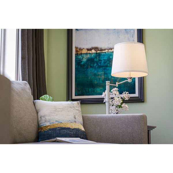 Riverside Brushed Steel One-Light Accent Table Lamp, image 2