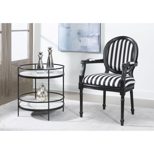 Black and White Round Accent Table, image 4