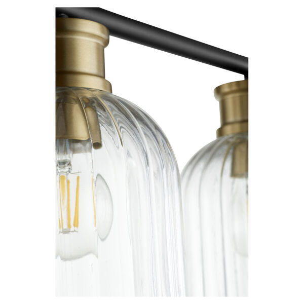 Monarch Noir Aged Brass Three-Light Bath Vanity, image 2