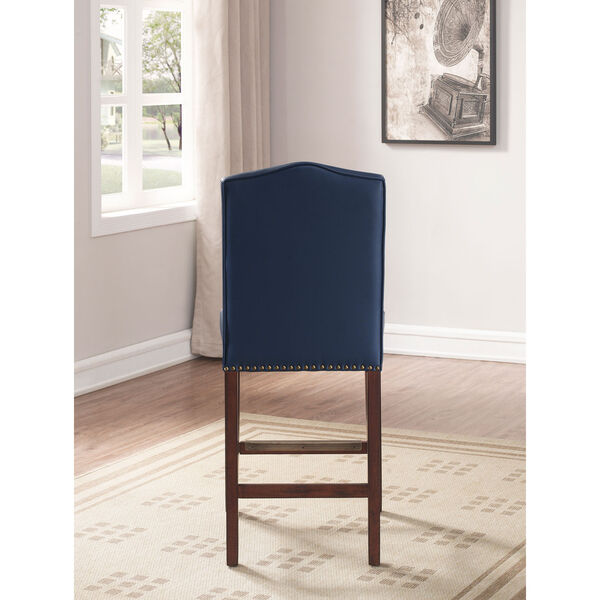 Carteret Navy Faux Leather Counter Stool, image 3