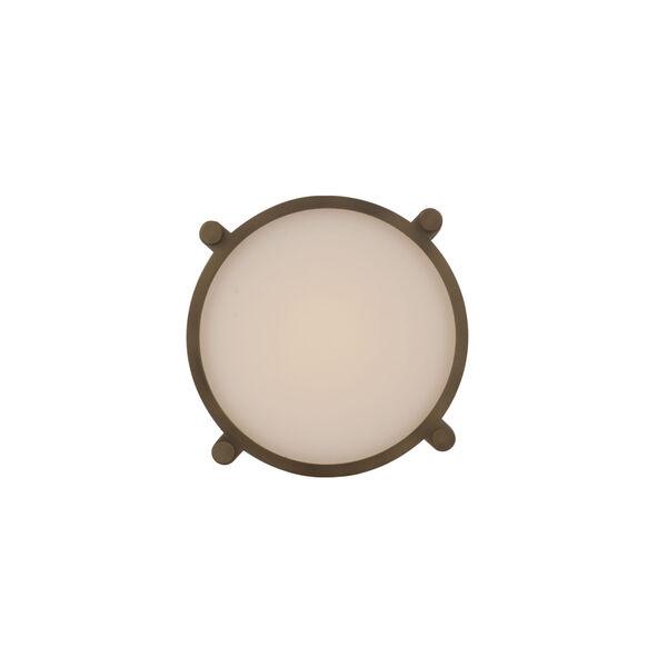 Wright Aged Brass 10-Inch LED Flush Mount, image 2