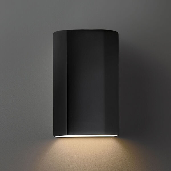 Ambiance Carbon Matte Black ADA Closed Top GU24 LED Cylinder Outdoor Wall Sconce, image 2