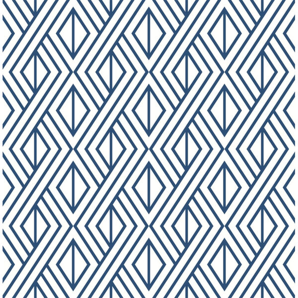 NextWall Navy Diamond Geometric Peel and Stick Wallpaper, image 2