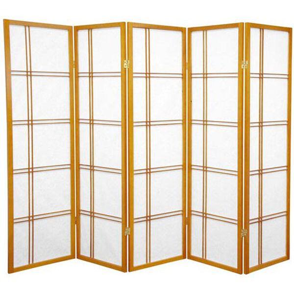 Five Ft. Tall Double Cross Shoji Screen, Width - 85 Inches, image 1
