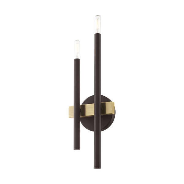 Denmark Bronze and Antique Brass Four-Light  Wall Sconce, image 3