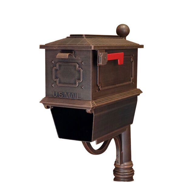 Kingston Copper Curbside Mailbox with Paper Tube, image 1