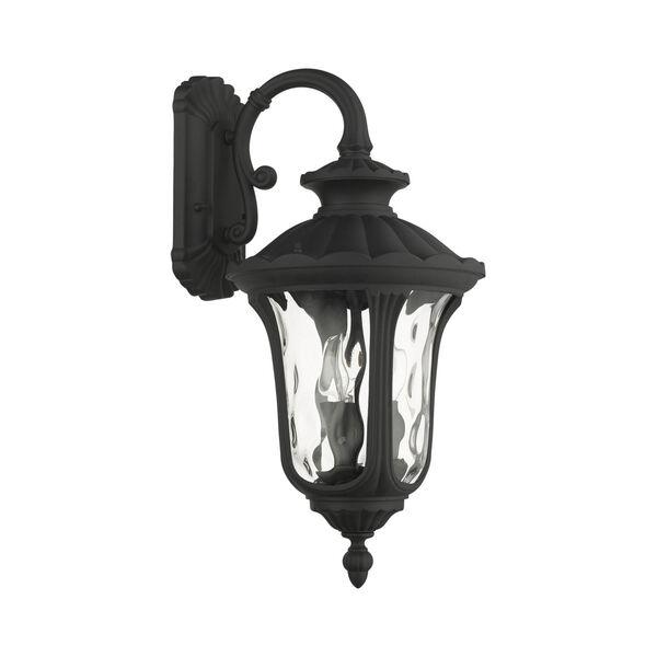 Oxford Textured Black 11-Inch Three-Light Outdoor Down Light Wall Lantern, image 2