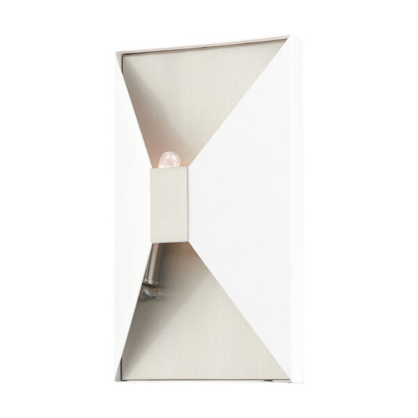 Lexford Textured White Two-Light ADA Wall Sconce, image 4