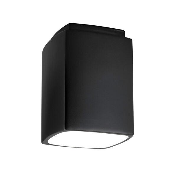 Radiance Carbon Matte Black Rectangle GU24 LED Outdoor Flush Mount, image 1