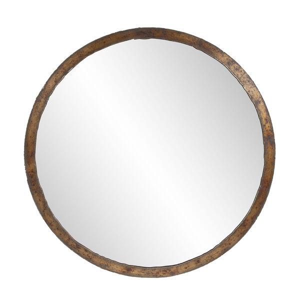 Marius Acid Treated Round Wall Mirror, image 1