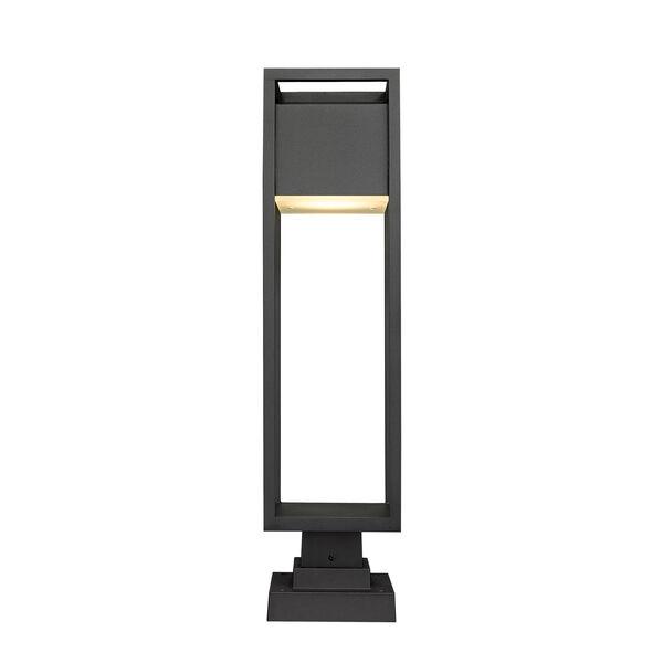 Barwick Black 28-Inch One-Light LED Outdoor Pier Mount, image 4