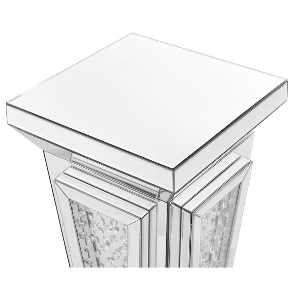 Modern Mirrored 24-Inch Contemporary Crystal End Table, image 5
