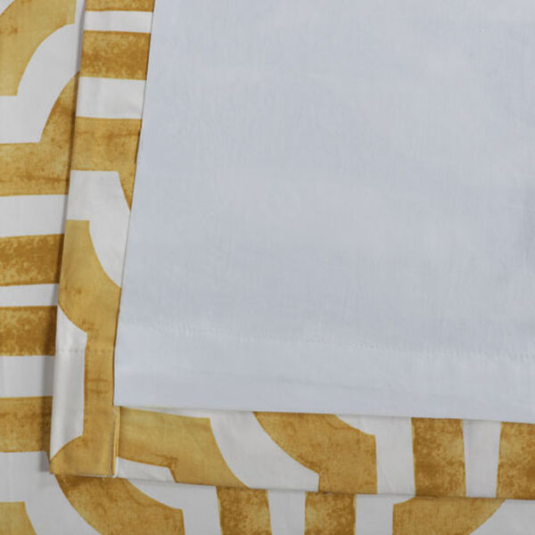 Yellow Gold 84 x 50 In. Printed Cotton Twill Curtain Single Panel, image 6
